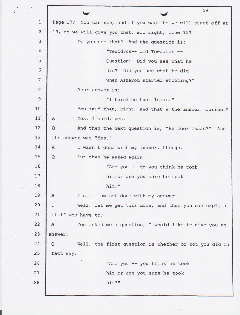 Merhawi's court testimony Feb. 28, 2008 afternoon session
